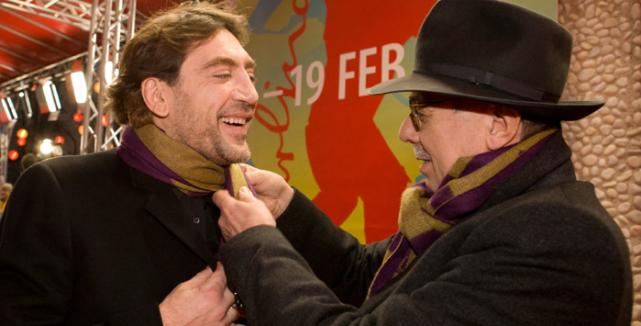 Javier Bardem (Hijos de las nubes, la última colonia) and festival director Dieter Kosslick