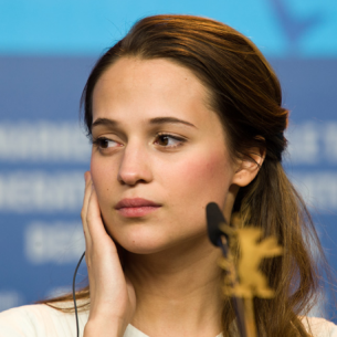 Alicia Vikander, En Kongelig Affære press conference