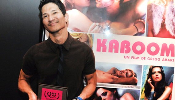 Greg Araki with queer palm award