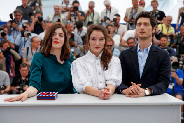 Donzelli and cast at the Cannes Festival